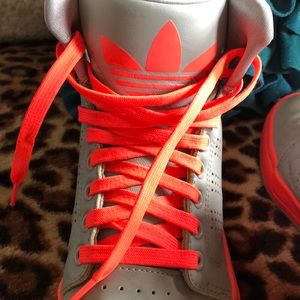 adidas Shoes - Neon and Grey Hightop Sneakers